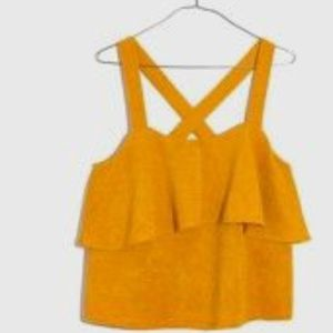 Madewell Tops - *HOST PICK* Madewell Mustard Yellow Tiered Top NWT